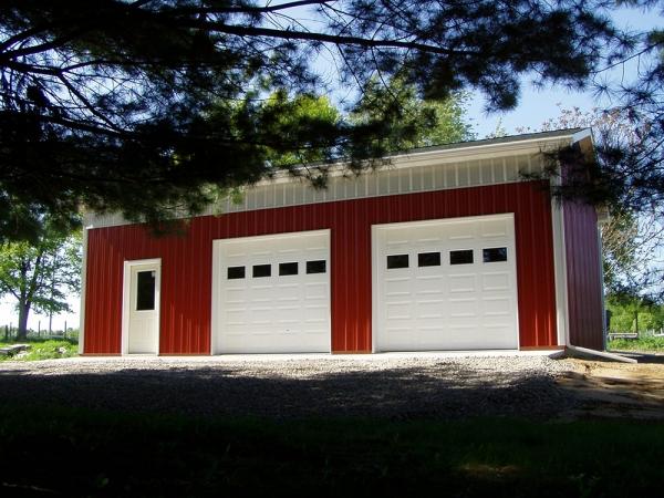24 x 36 x 12 Home Mechanic Shop - Standard Barn Construction