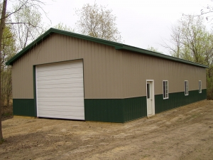 30 X 60 X 12 Steel Standard Barn Construction Michigan
