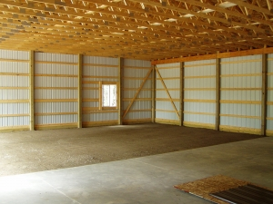 40 X 48 X 12 Steel Standard Barn Construction Michigan