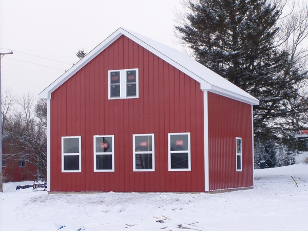 24 x 24 x 14 loft michigan loft barn construction for Pinckney garage door