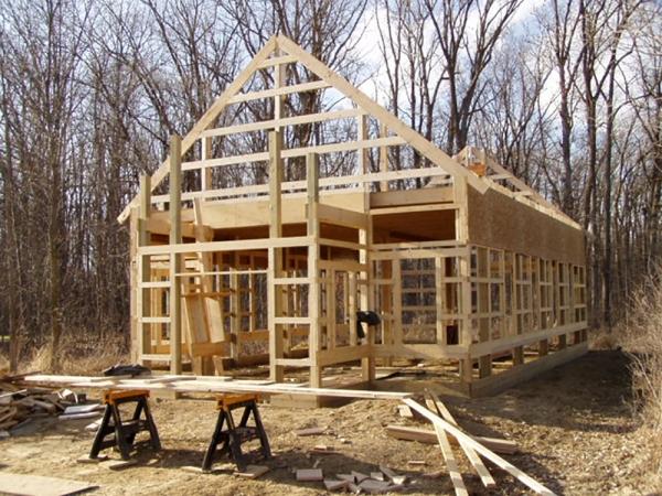 24 X 40 X 12 School House Loft Michigan Loft Barn