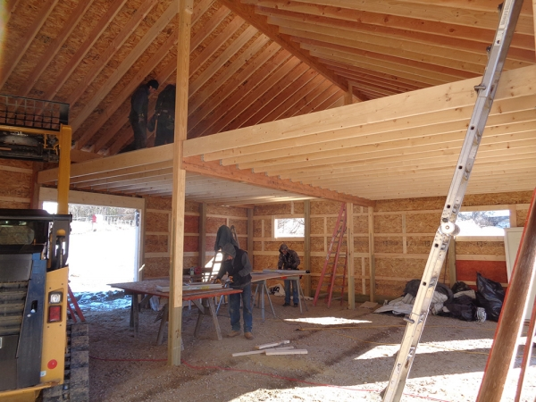 30 x 40 x 12 loft michigan loft barn construction for Free barn plans with loft