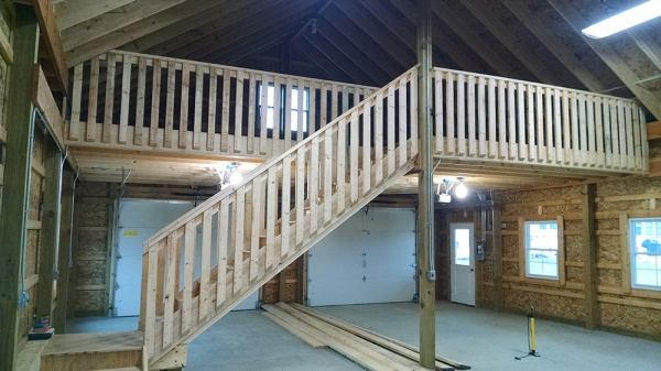 30 X 40 X 12 Loft Porch Michigan Loft Barn
