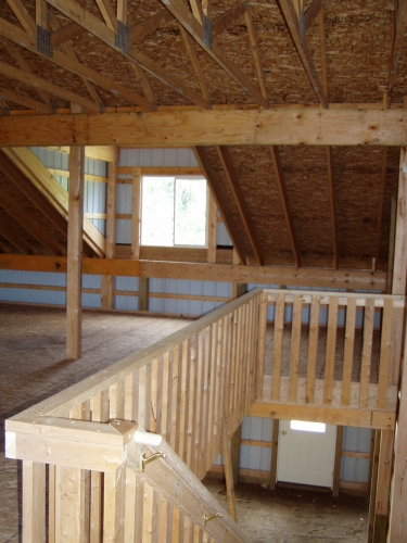 40 X 72 X 12 Loft Highbay Michigan Loft Barn