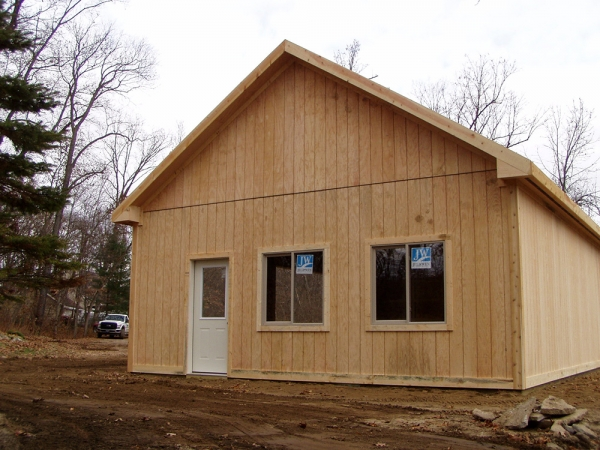 24 X 36 X 10 T 111 Custom Garage Construction Michigan