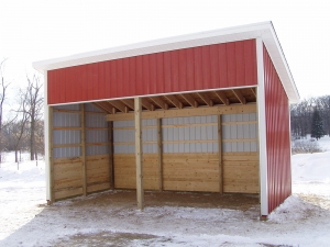 12 X 24 X 10 Run In Shed Michigan Equestrian Horse