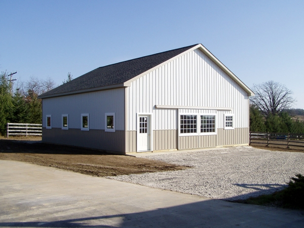 36 X 40 X 12 Hayloft Stalls Michigan Equestrian