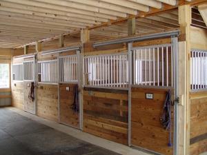 36 X 40 X 12 Hayloft Stalls Michigan Equestrian