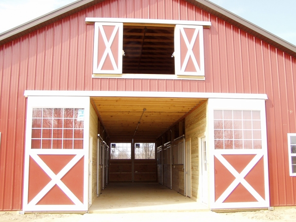 36 X 48 X 13 Horse Barn Michigan Equestrian Horse Barn