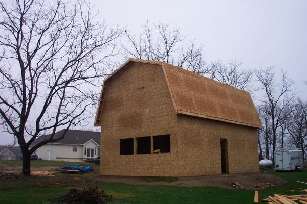 20 X 24 X 10 Gambrel Custom Barn Construction Michigan