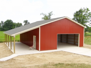 30 X 40 X 12 Porch Custom Barn Construction Michigan