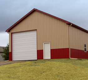 Best Steel Barns Manchester MI - Burly Oak Builders - pole-rv