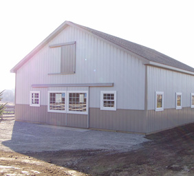 Best Steel Barns Manchester MI - Burly Oak Builders - port-horse(1)