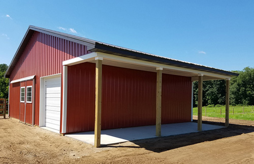 Michigan Barn Construction Photo Gallery - Burly Oak Builders - port-horse